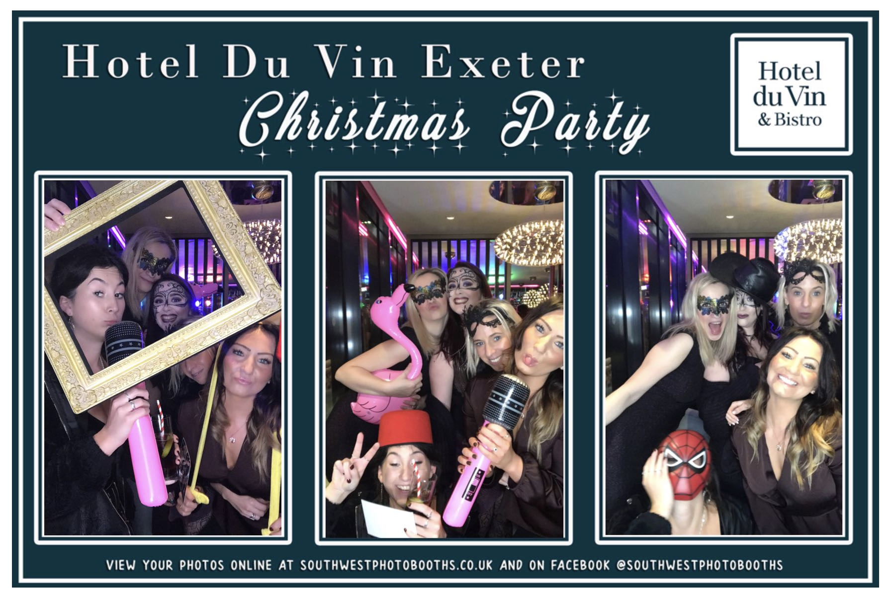Hotel Du Vin Exeter Christmas Party | View more photos from the event at gallery.southwestphotobooths.co.uk/u/SWPB/Hotel-Du-Vin-Exeter-Christmas-Party