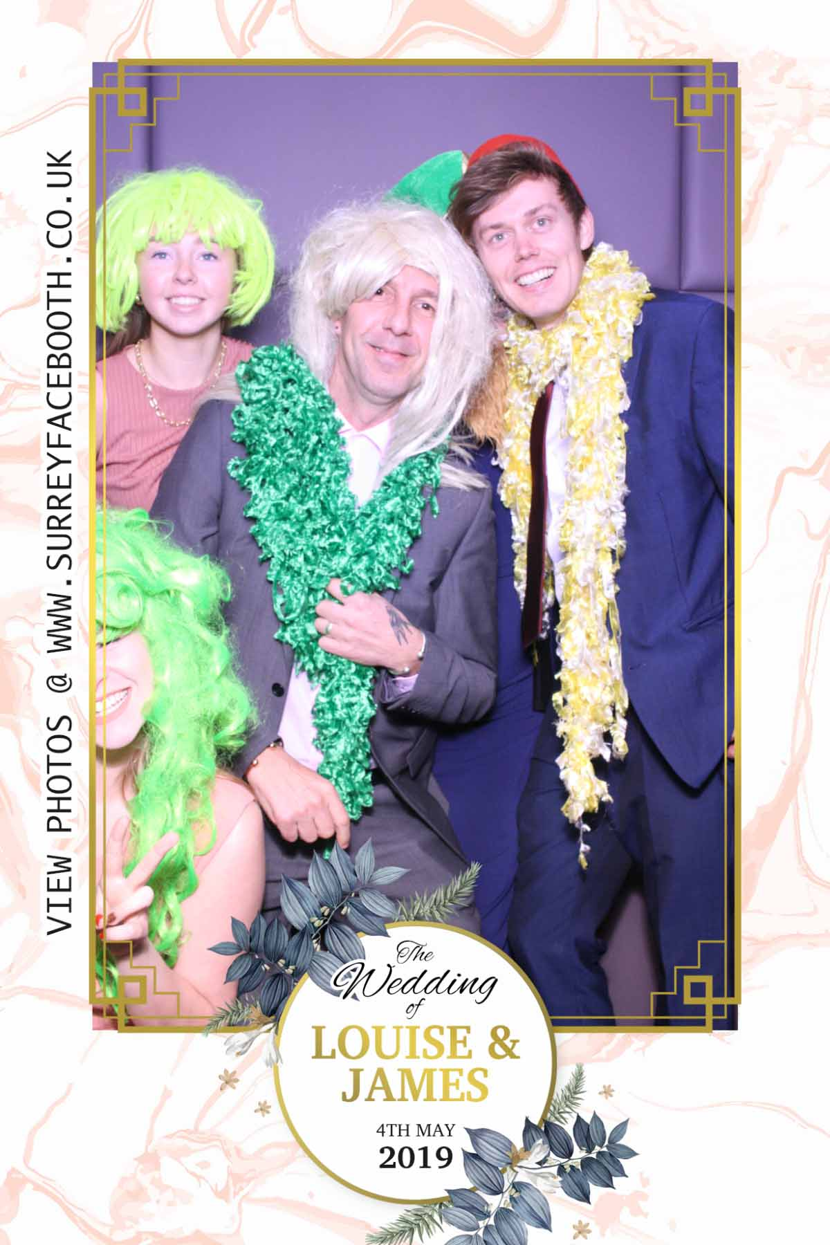 Louise & James' Wedding | View more photos from the event at galleries.surreyfacebooth.co.uk/u/Surrey-FaceBooth/Louise-James-Wedding