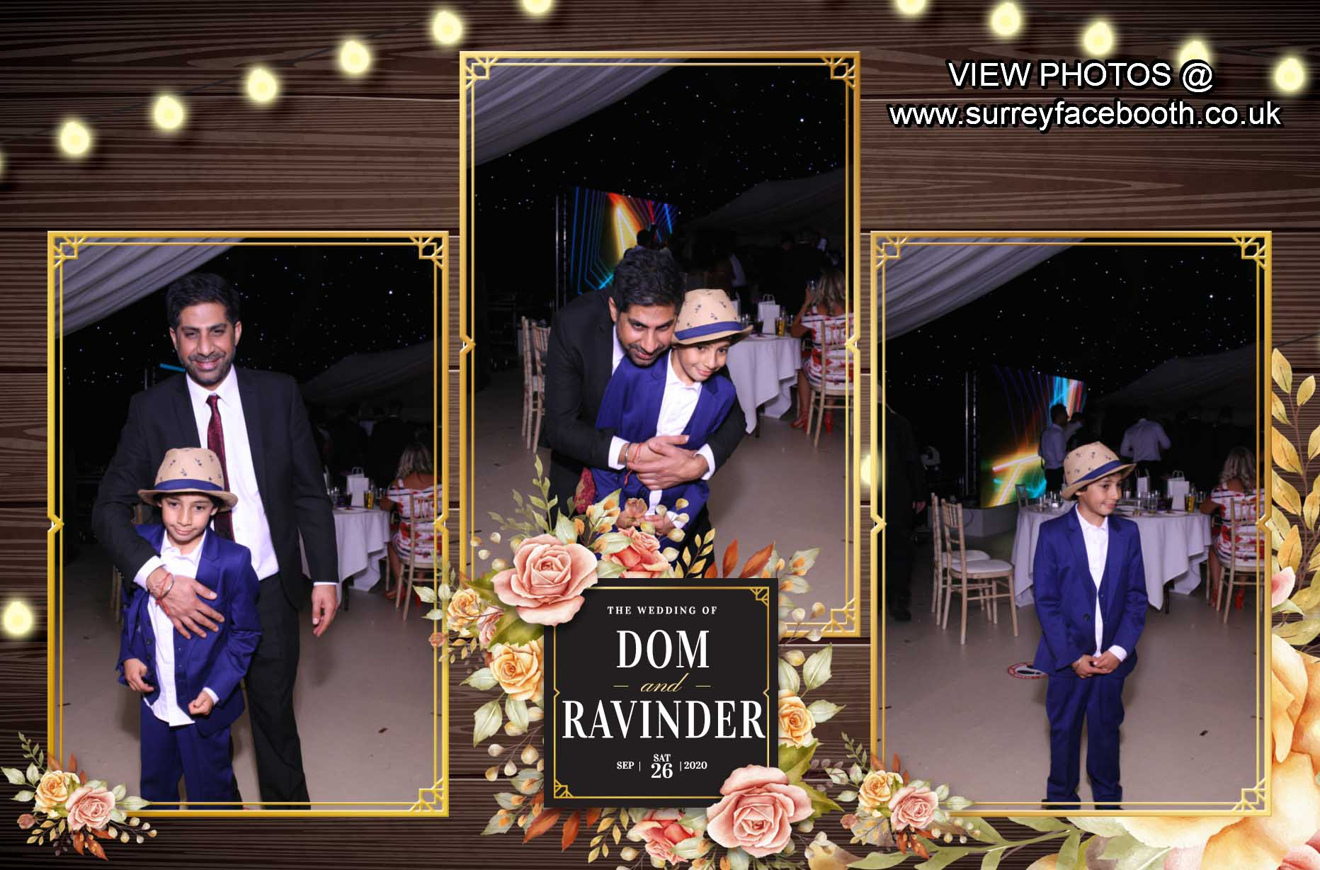 Ravinder & Dominic's Wedding | View more photos from the event at galleries.surreyfacebooth.co.uk/u/Surrey-FaceBooth/Ravinder-Dominics-Wedding
