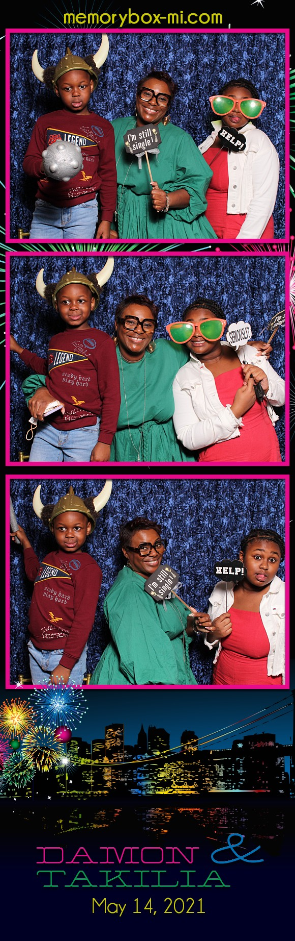 Damon & Takilia's Wedding | View more photos from the event at gallery.detroitphotobooth.com/u/photobooth/Damon-Takilias-Wedding
