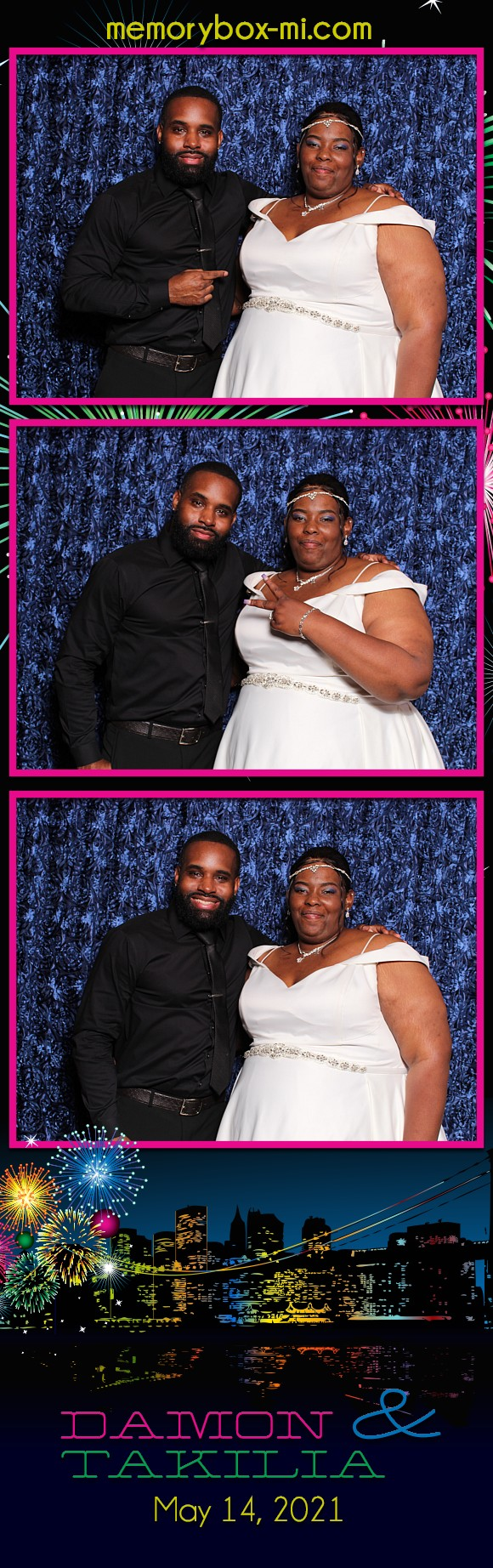 Damon & Takilia's Wedding   View more photos from the event at gallery.detroitphotobooth.com/u/photobooth/Damon-Takilias-Wedding
