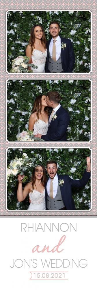Bride & Groom in Cotswold Photo Booth Hire